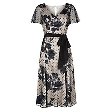 Buy Jacques Vert Floral Shadow Spot Dress, Multi Black Online at johnlewis.com