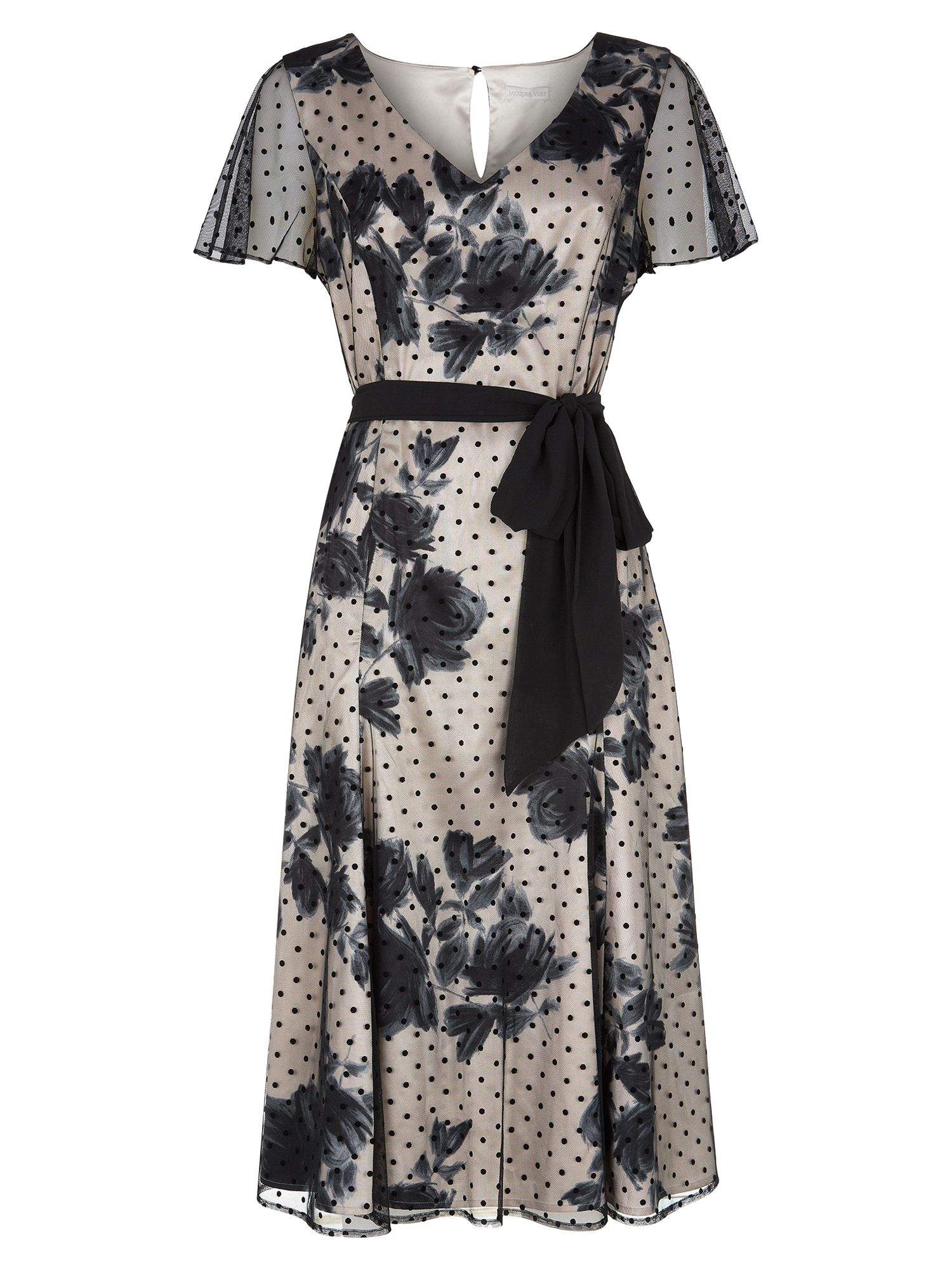 jacques vert floral shadow spot dress multi black, jacques, vert, floral, shadow, spot, dress, multi, black, jacques vert, 8|16|12, clearance, womenswear offers, womens dresses offers, special offers, women, plus size, inactive womenswear, new reductions, womens dresses, 1721418