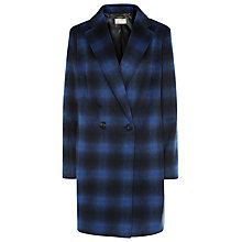 Buy Planet Check City Coat, Blue/Black Online at johnlewis.com