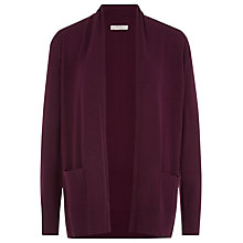 Buy Planet Merino Cardigan, Claret Online at johnlewis.com