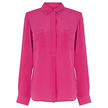 Buy Wishbone Honey Silk Shirt, Bright Pink Online at johnlewis.com