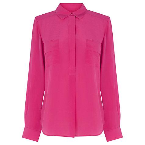 Buy Wishbone Honey Silk Shirt, Bright Pink Online at johnlewis.com