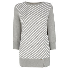 Buy Wishbone Billy Stripe Knitted Jumper, Grey Multi Online at johnlewis.com