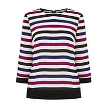 Buy Wishbone Shelia Striped Silk Top, Multi Online at johnlewis.com