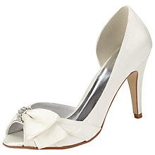 Buy John Lewis Exposed Satin Court Shoes, Ivory Online at johnlewis.com