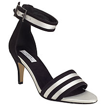 Buy COLLECTION by John Lewis Kir Ankle Strap Court Heels, Black/White Online at johnlewis.com