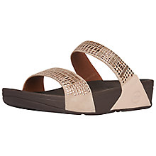 Buy FitFlop Aztek Chada Slide Suede Sandals, Rose Gold Online at johnlewis.com