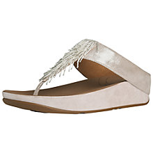 Buy FitFlop Cha Cha Leather Sandals, Natural Online at johnlewis.com