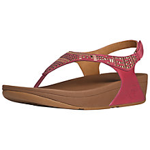 Buy FitFlop Aztek Chada Suede Sandals, Raspberry Online at johnlewis.com