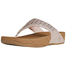 Buy FitFlop Novy Rhinestone Thong Sandals, Nude Online at johnlewis.com