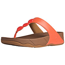 Buy FitFlop Petra Jewelled Leather Thong Sandals Online at johnlewis.com