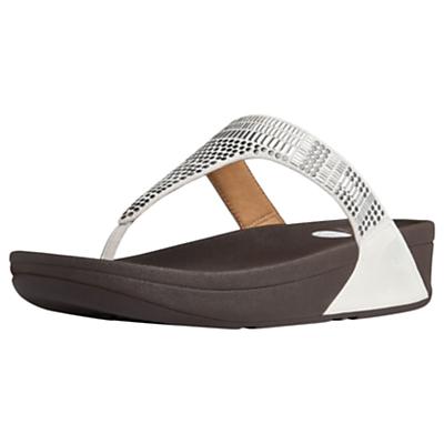 FitFlop Aztec Chada Suede Platform Sandals, White Suede