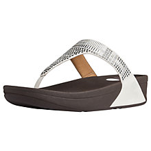 Buy FitFlop Aztec Chada Suede Platform Sandals, White Suede Online at johnlewis.com