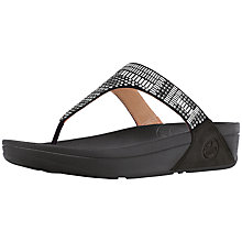 Buy FitFlop Aztec Chada Suede Platform Sandals, Black Suede Online at johnlewis.com