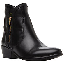 Buy Steve Madden Zipstr Leather Double Zip Low Heel Ankle Boots Online at johnlewis.com