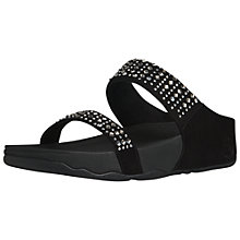 Buy FitFlop Novy Jewel Embellished Suede Sliders, Black Online at johnlewis.com