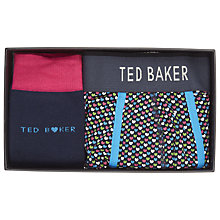 Buy Ted Baker Hartpak Heart Print Socks and Trunks Gift Set, Multi Online at johnlewis.com