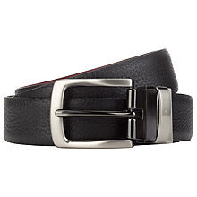 Buy Ted Baker Somemo Reversible Leather Belt, Black/Red Online at johnlewis.com