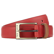 Buy Ted Baker Britone Leather Block Colour Belt Online at johnlewis.com