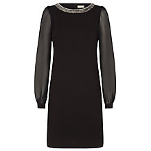 Buy Planet Bead Trim Tunic, Black Online at johnlewis.com