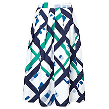 Buy Kin by John Lewis Lattice Oversized Check Skirt, Multi Online at johnlewis.com