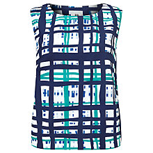 Buy Kin by John Lewis Lattice Check Shell Cotton Top, Multi Online at johnlewis.com
