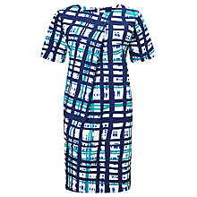 Buy Kin by John Lewis Pleat Front Cotton Dress, Multi Online at johnlewis.com