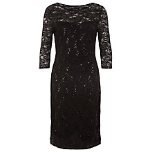 Buy Planet Sparkle Lace Dress, Black Online at johnlewis.com