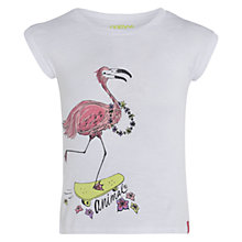 Buy Animal Girls' Amille Graphic Print T-Shirt, White Online at johnlewis.com