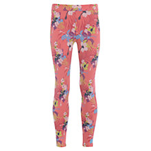 Buy Animal Children's Floral Print Leggings, Pink Online at johnlewis.com