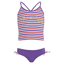 Buy Animal Girls' Palten Stripe Tankini, Purple/Multi Online at johnlewis.com