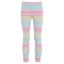 Buy Animal Girls' Wanta Leggings, Peach/Multi Online at johnlewis.com