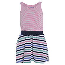 Buy Animal Girls' Laurah Stripe Dress, Pink/Multi Online at johnlewis.com
