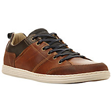 Buy Dune Triton Suede Lace-Up Trainers, Tan Online at johnlewis.com