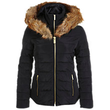 Buy Miss Selfridge Short Puffa Jacket, Black Online at johnlewis.com