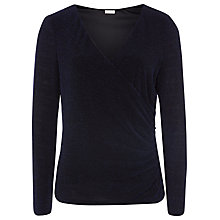 Buy Planet Sparkle Wrap Top, Navy Online at johnlewis.com