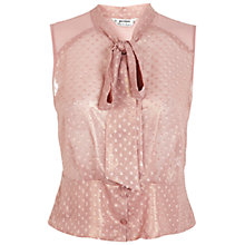 Buy Miss Selfridge Petite Pussybow Blouse, Pale Pink Online at johnlewis.com