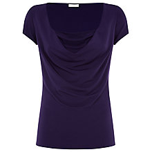 Buy Planet Cowl Neck Jersey Top, Purple Online at johnlewis.com