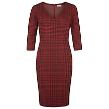 Buy Planet Jacquard Dress, Claret Online at johnlewis.com