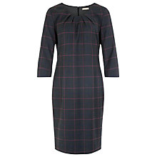 Buy Planet Check Shift Dress, Charcoal Online at johnlewis.com