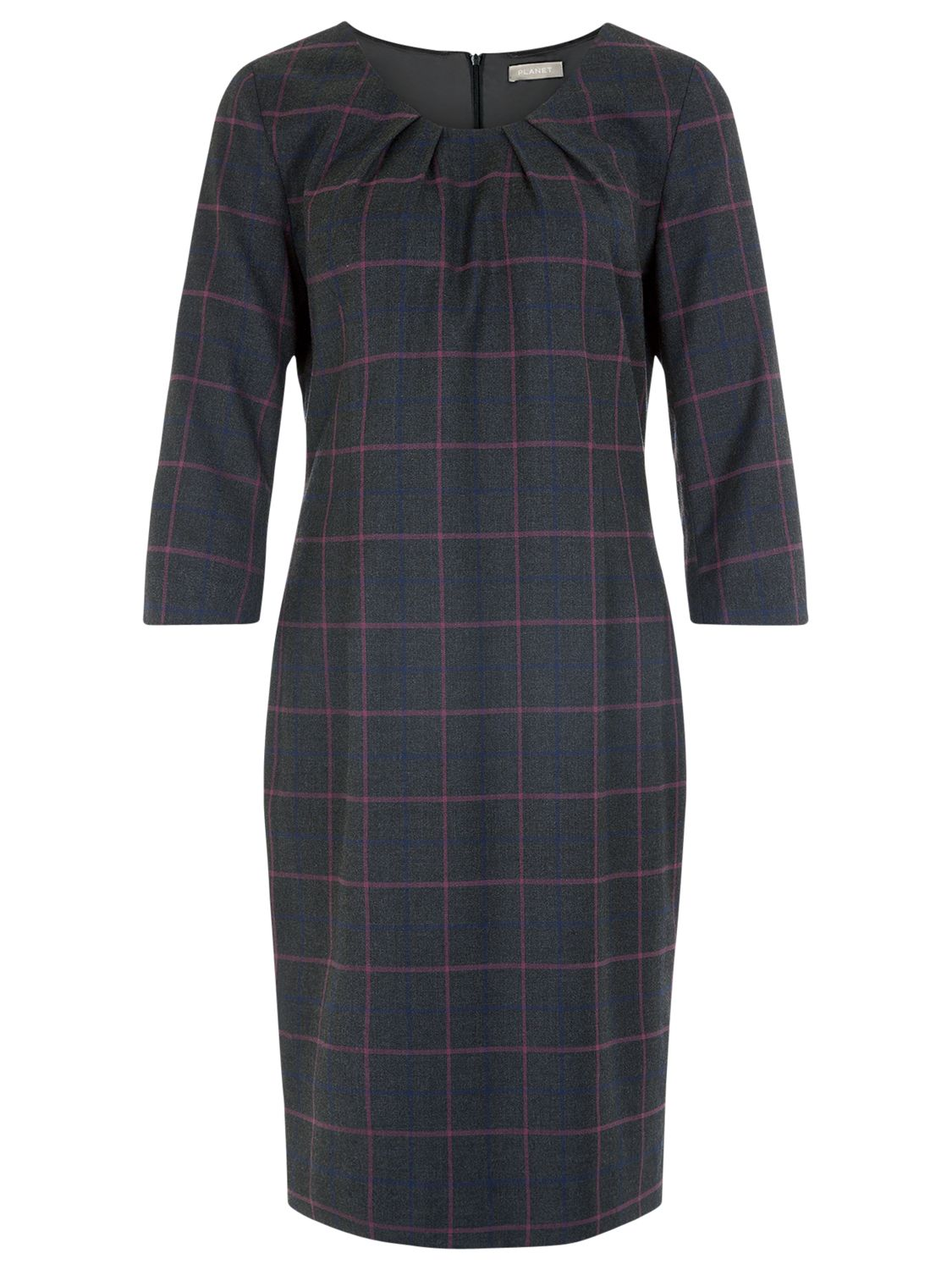planet check shift dress charcoal, planet, check, shift, dress, charcoal, 14|16|18|12, clearance, womenswear offers, womens dresses offers, women, plus size, inactive womenswear, new reductions, womens dresses, special offers, workwear offers, 1709605