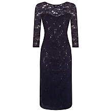 Buy Planet Midnight Sparkle Lace Dress, Navy Online at johnlewis.com