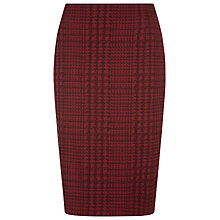 Buy Planet Pencil Jacquard Skirt, Claret Online at johnlewis.com
