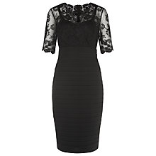 Buy Kaliko Lace and Jersey Dress, Black Online at johnlewis.com