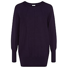 Buy Kaliko Ribbed Slouchy Jumper, Blackcurrant Online at johnlewis.com