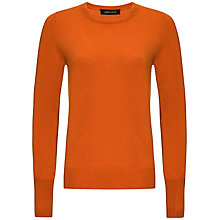Buy Jaeger Cashmere Crew Neck Jumper, Burnt Orange Online at johnlewis.com