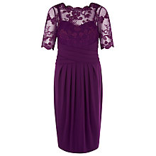 Buy Kaliko Lace And Jersey Dress, Claret Online at johnlewis.com
