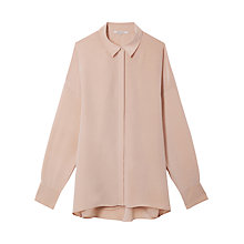 Buy Gérard Darel Sametane Back-Opening Silk Shirt, Sand Online at johnlewis.com