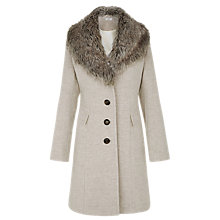 Buy Kaliko Mulberry A-Line Coat, Black Online at johnlewis.com