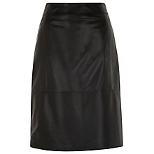 Buy Kaliko Leather Pencil Skirt, Black Online at johnlewis.com